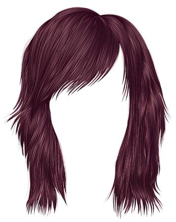 caoba: moda mujer pelos de color marrón. longitud mediana . belleza