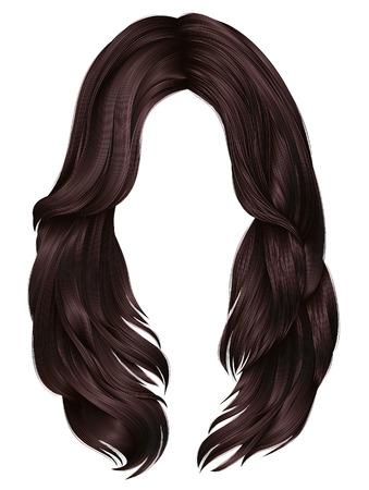 modne kobiety długie włosy kolory. moda piękna. realistyczna grafika 3d