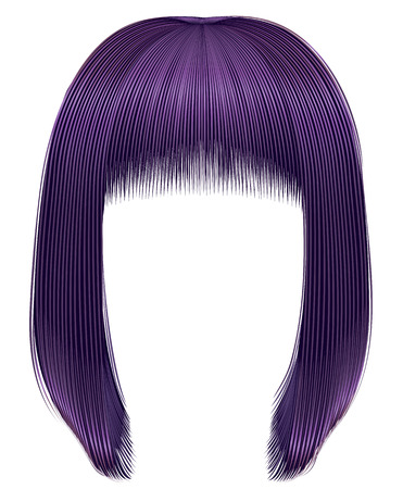 Trendy purple colored fringe for women. Illustration