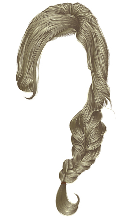 Trendy women hairs blond color, fashion beauty style .