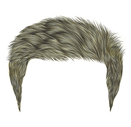 Trendy man hairs blond color.beauty fashion style.realistic 3d.