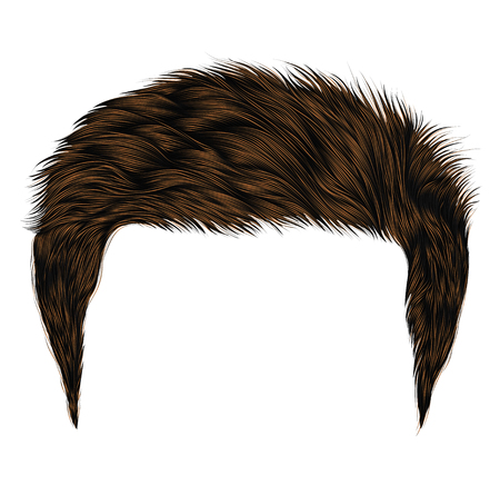 Trendy man short brown hairs style.