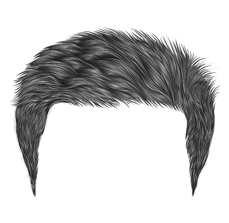 Trendy man hairs gray color. fashion beauty style .realistic 3d graphic.