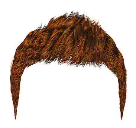 Trendy man hairs.red ginger redhead  .beauty style.realistic 3d. Illustration