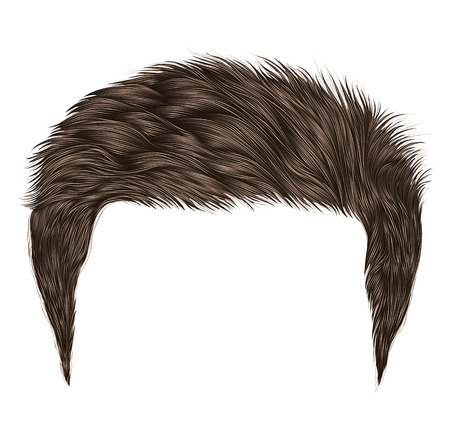 Trendy man hairs.brown, blond color. beauty style .realistic 3d .
