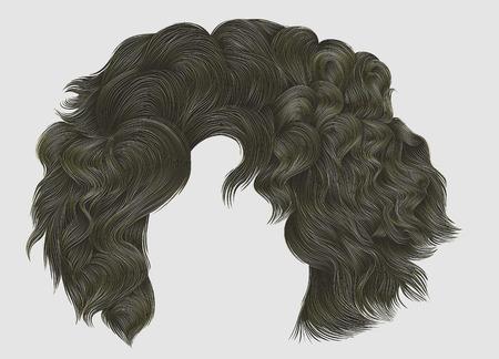 Moda mujer colores de cabello rizado.