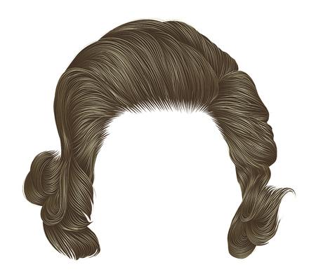 capelli ricci donna alla moda colore biondo. lunghezza media . stile di bellezza. 3D realistico.