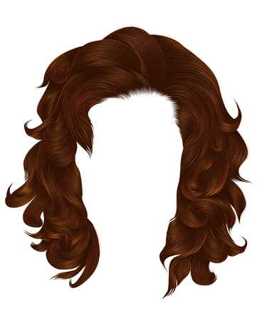 trendy woman long hairs red ginger colors .  beauty fashion .   realistic  graphic 3d