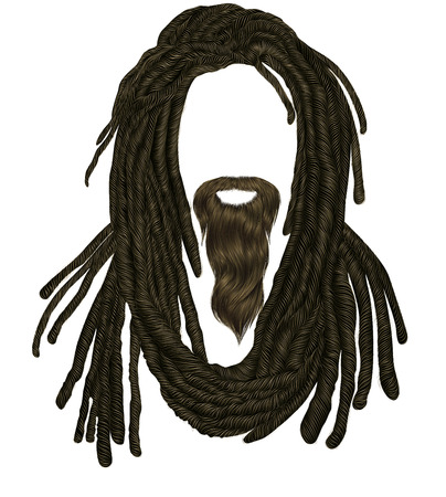 Indian sadhu hairstyle With beard.Hair dreadlocks.funny avatar.