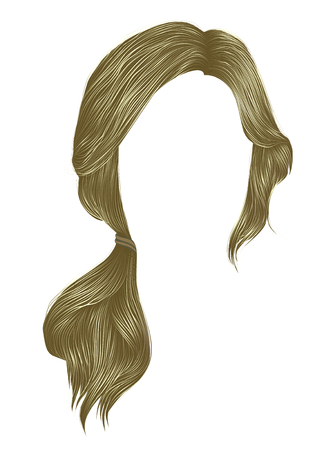 trendy women hairs blond light colour .tail .  fashion beauty style .