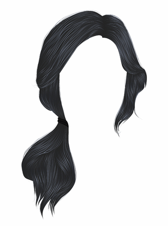 trendy women hairs gray colour .tail .  fashion beauty style .