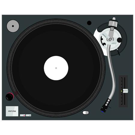 Vinyl Turntable Birdseye