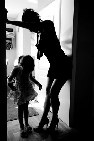 Mother and daughter prepared to go somewhere. Stock Photo - 6628377