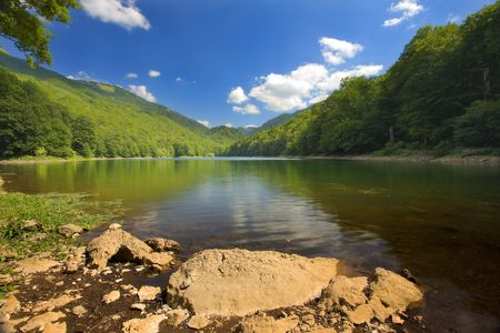 Biogradsko Lake in Montenegro summer season. Stock Photo