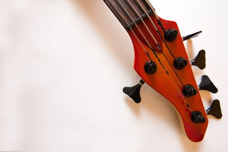 Bass Guitar Head - Details of bass guitar with 5 strings. Stock Photo - 6677602