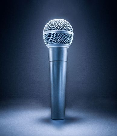 Stage Microphone isolated on gray background Stock Photo - 6677609