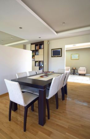 Modern house interior with white furniture and beige walls. Stock Photo - 6820356
