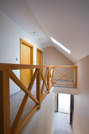 Halls, stairs and entrances of a new apartment building. Stock Photo - 8551774