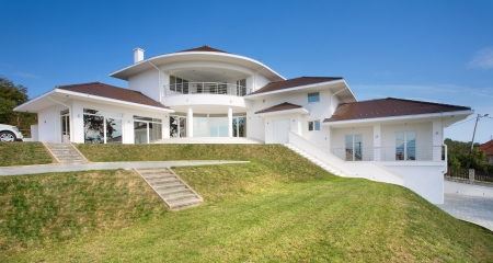Modern house exter, large and expensive house architecture. Stock Photo - 8582923
