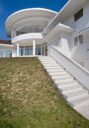 Modern house exterior, large and expensive house architecture. Stock Photo - 8582926