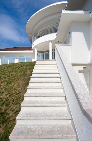 Modern house exterior, large and expensive house architecture. Stock Photo - 8582924