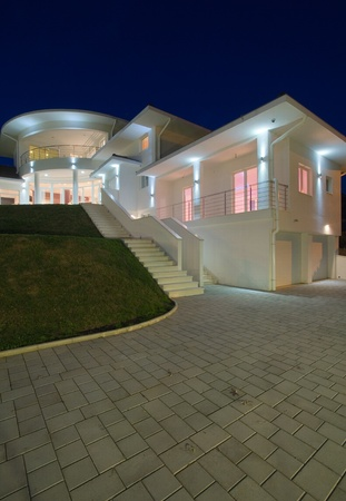 Modern house exterior, large and expensive house architecture. Stock Photo - 8582914