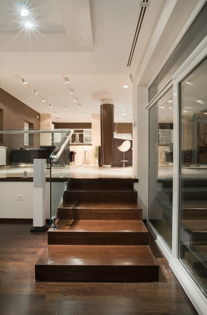 Modern house interior, large and expensive house architecture. Stock Photo - 8582907
