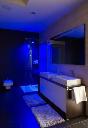 Modern house bathroom interior with simple and expensive furniture. Stock Photo - 8582891