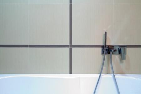 Modern bathroom interior, minimal design style, simple and attractive furniture. Stock Photo - 8624763