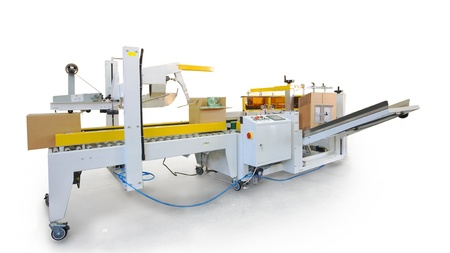 packaging equipment: Details of a printing and packaging machines.