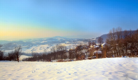 morava: On the Jelica mountain in Central Serbia - Shumadija and West Morava region, winter season 2011.