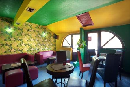 bistro: Interior of modern cafe, mainstream, modern pop style.