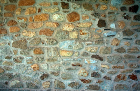 Stone wall texture, stone decoration of house wall. Stock Photo - 10064372