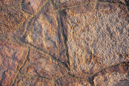 Stone wall texture, stone decoration of house wall. photo