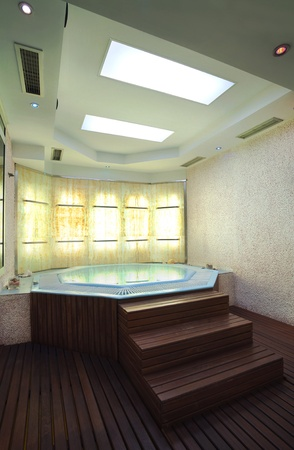 Inter of a hotel jacuzzi, modern and simple style.  Stock Photo - 10356706