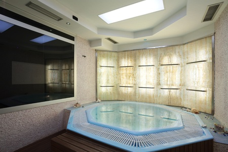 Interior of a hotel jacuzzi, modern and simple style. Stock Photo - 10356708