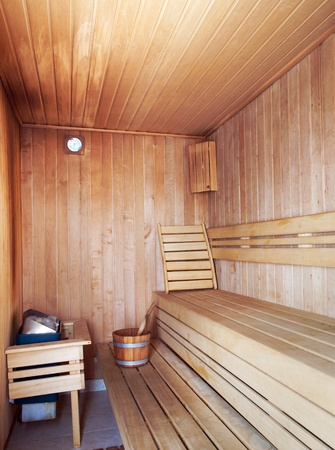 Interior of an empty wooden sauna. Stock Photo - 10366166