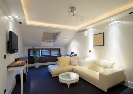 Inter of a hotel apartment with furniture, modern contemporary design.  Stock Photo - 10380905