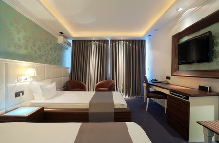 Interior of a hotel room with furniture, modern contemporary design. Stock Photo - 10470998