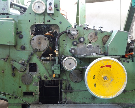 Details of a machine, old and used.  photo