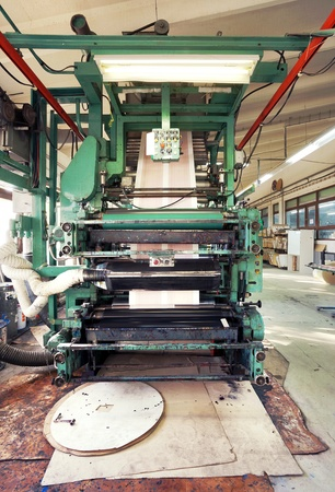 Details of a printing machine inside factory. Stock Photo - 11477499