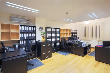 Interior of an office, modern design, simple furniture.  Stock Photo - 12390290