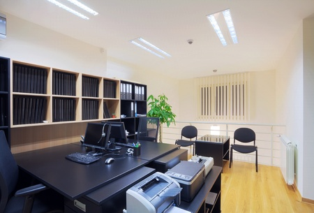 Interior of an office, modern and simple design. photo