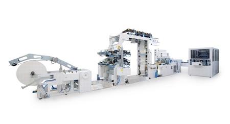 新的印刷機,在白色背景孤立。