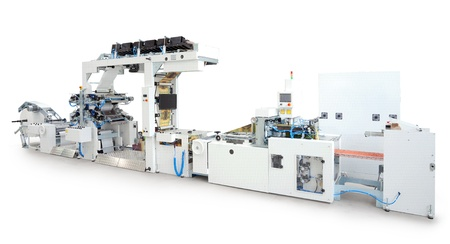 New printing machine, isolated on white background.  Stockfoto