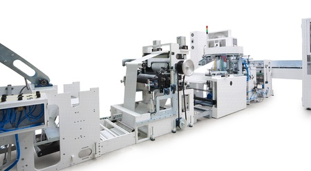 Parts and details of a printing machine.