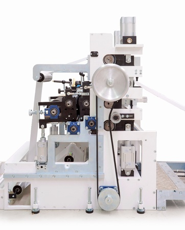 Parts and details of a printing machine. photo