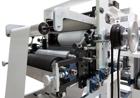paper factory: Parts and details of a printing machine.