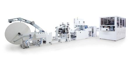 gewebe: Teile und Details eines Druck-und Verpackungsmaschinen. Lizenzfreie Bilder