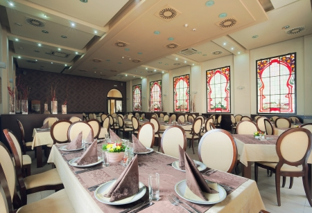 Inter of a hotel restaurant during day. Stock Photo - 14248256